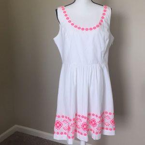 Vineyard Vines white cotton Linen dress